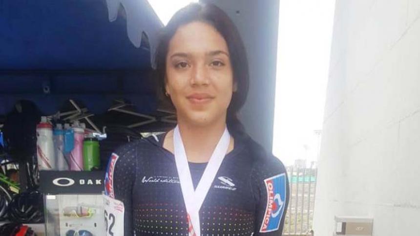 La patinadora Andrea Plaza, medalla de oro en el Nacional Interclubes.