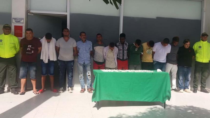 En Soledad cayeron 15 personas señaladas de integrar la peligrosa estructura criminal 'Los Intocables'.