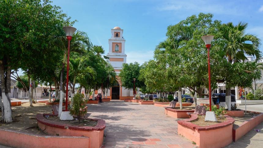 Plaza principal de Juan de Acosta.