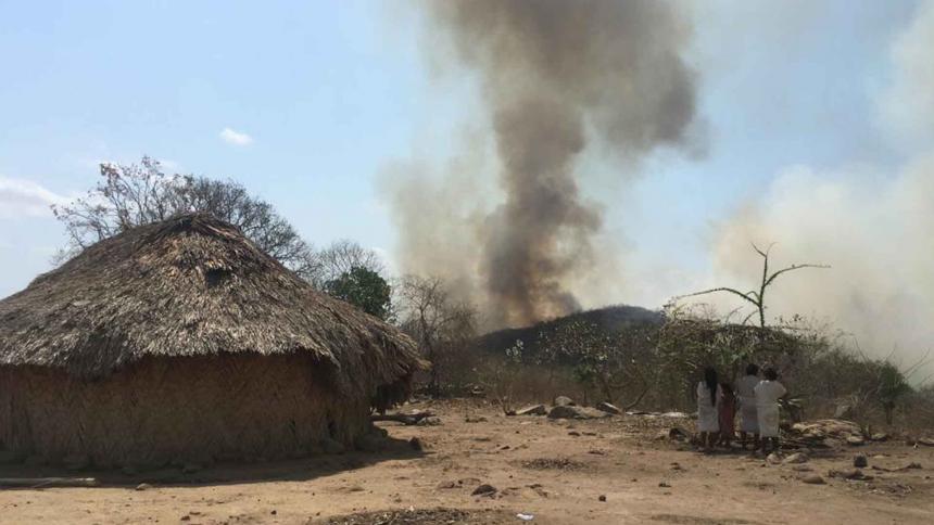 42 familias wiwas en riesgo por incendios forestales en la Sierra Nevada