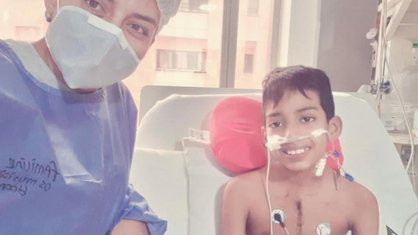 Thomas, de 10 años, es el primer niño en recibir un trasplante de corazón en medio de la pandemia por COVID-19.