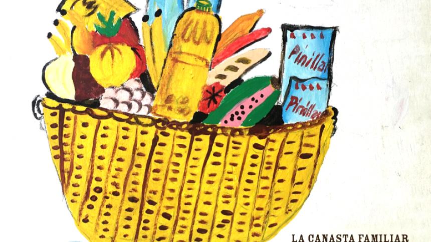 Obra de César Morales en el catálogo de la exposición.