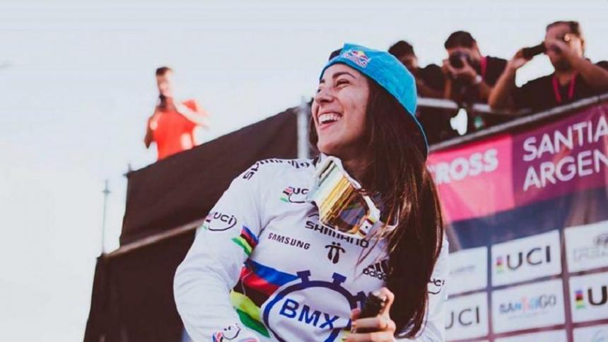 La bicicrosista colombiana Mariana Pajón.