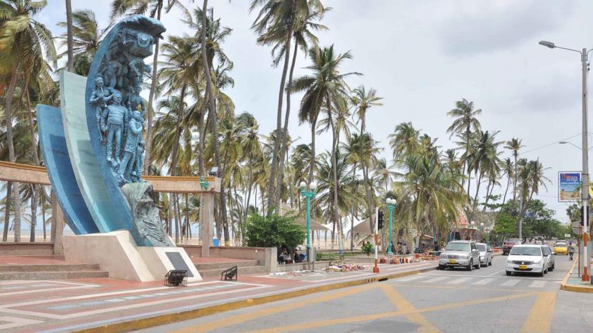 Calle Primera de Riohacha.