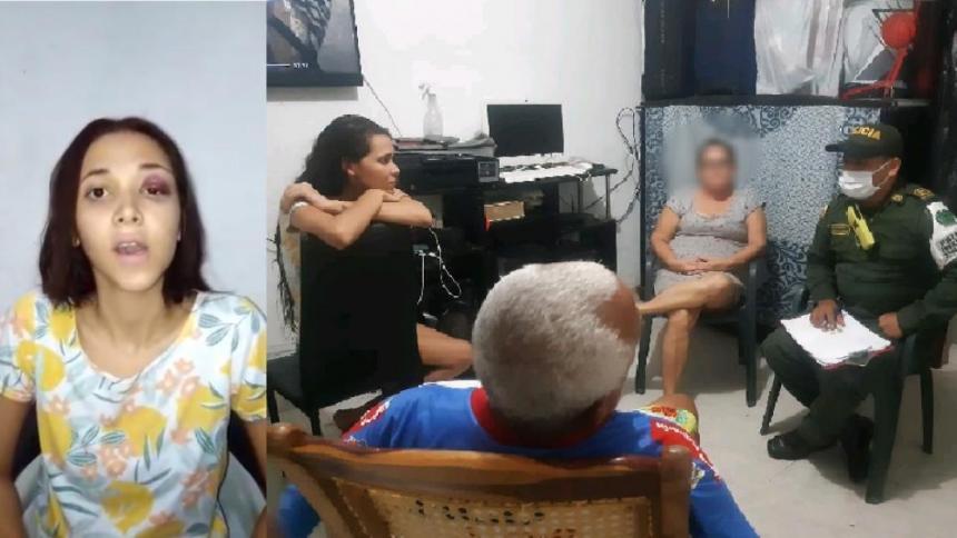 La Policía ha hecho presencia en la casa de Arelys Henao, quien vive con sus padres.