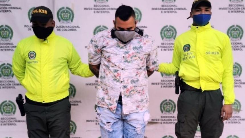 Juan David Lozano, capturado en Cartagena.