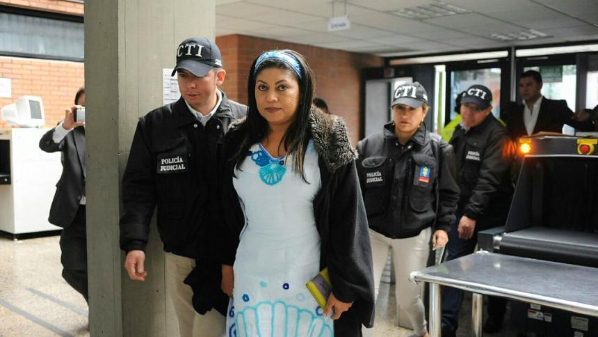 La exgobernadora de La Guajira, Oneida Pinto.