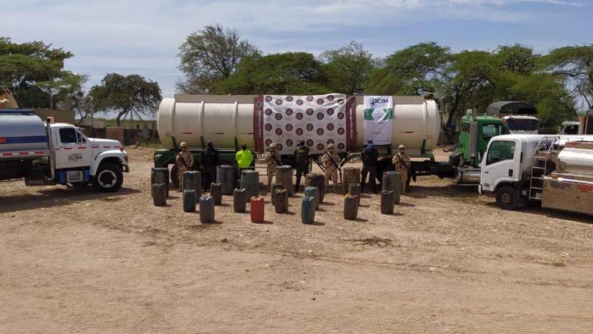 Desmantelan 4 centros de almacenamiento de gasolina ilegal en Uribia