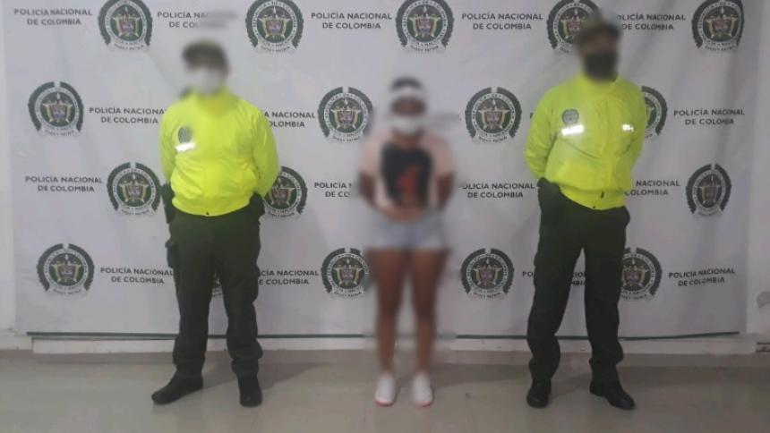 María Angélica Gómez, alias Paraca loca, capturada por asesinato de María del Pilar Hurtado.