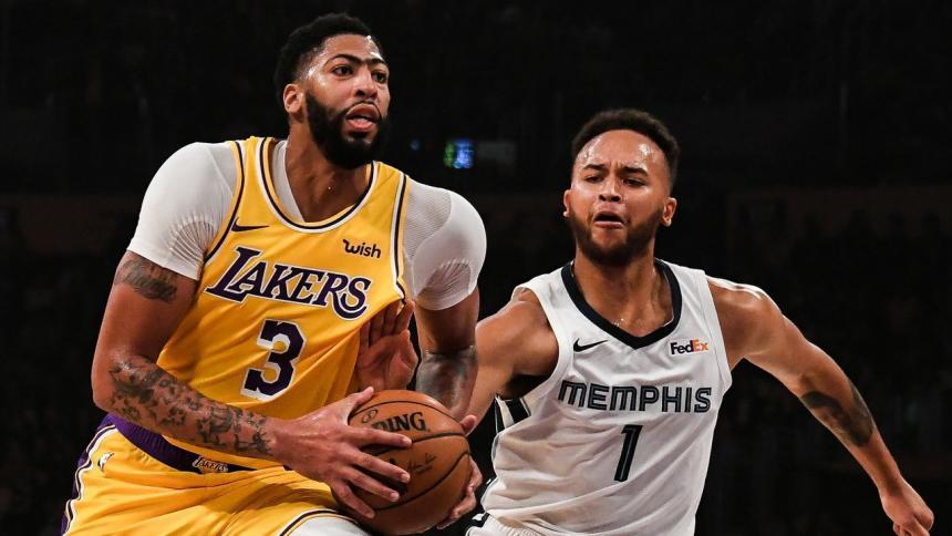 Anthony Davis en acción con los Lakers esta temporada.