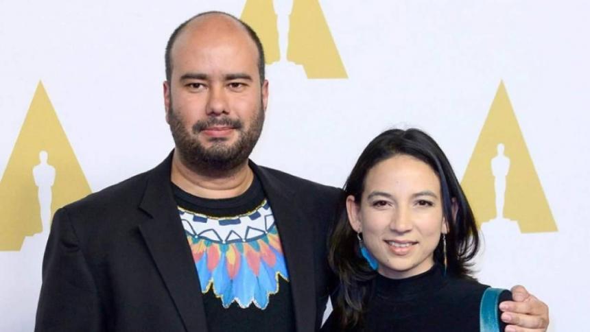 Ciro Guerra al lado de la productora Cristina Gallego.