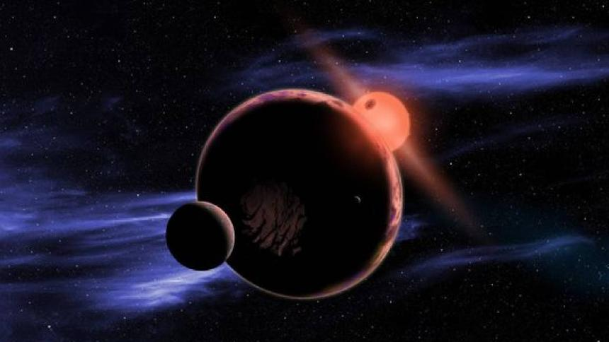 Ilustración del la estrella Luyten.