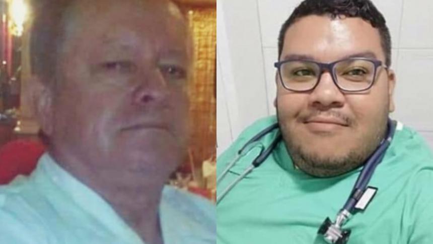 Roberto Angulo Arévalo y Michael Ortega, médicos fallecidos.