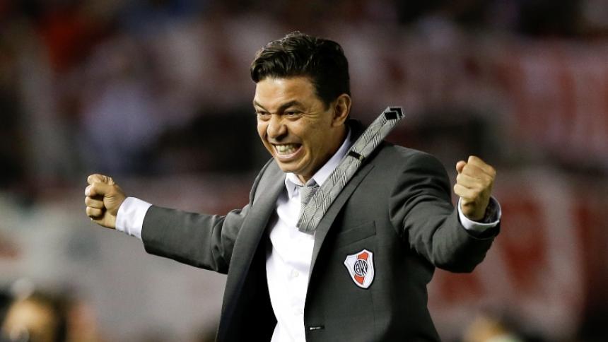 Marcelo Gallardo, entrenador de River Plate, uno de los tres equipos que pidió el aplazamiento.