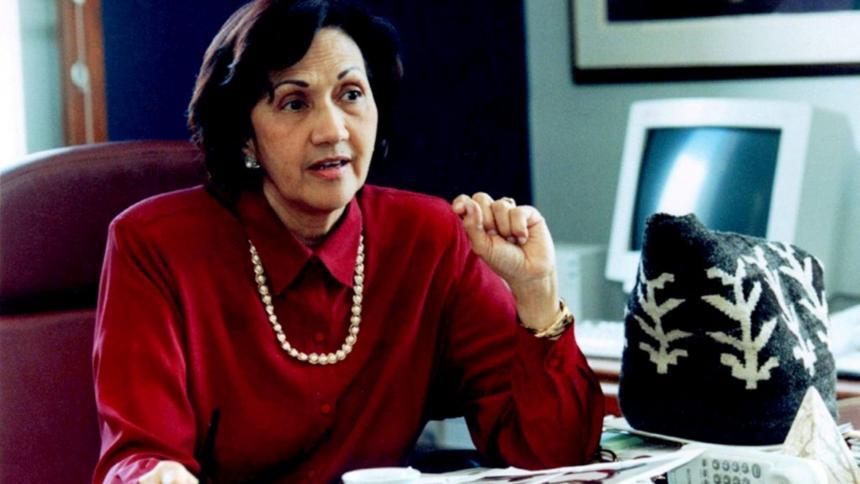 Consuelo Araujonoguera cuando era ministra.