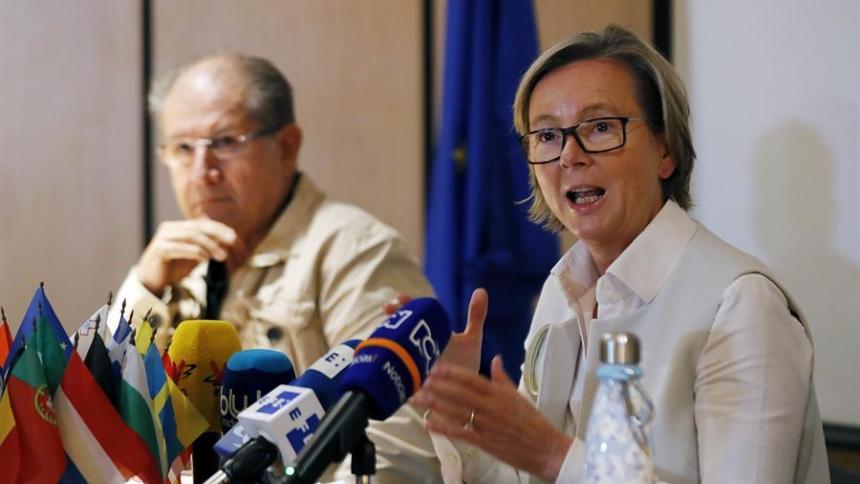 La embajadora de la Unión Europea en Colombia, Patricia Llombart.