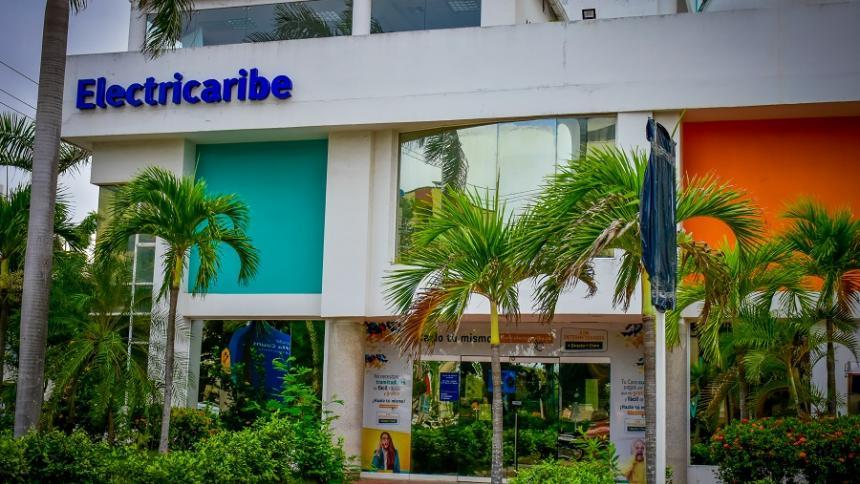 Fachada de la sede norte de Electricaribe en Barranquilla.