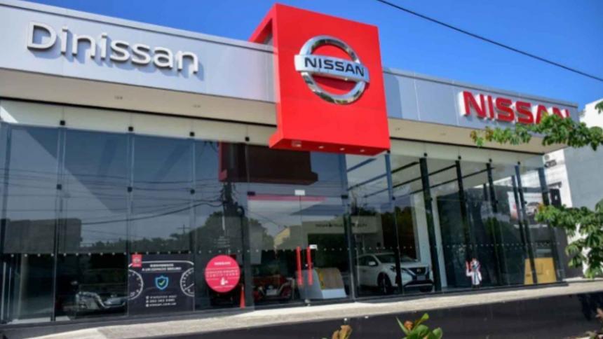 Fachada de un concesionario de automóviles en Barranquilla.