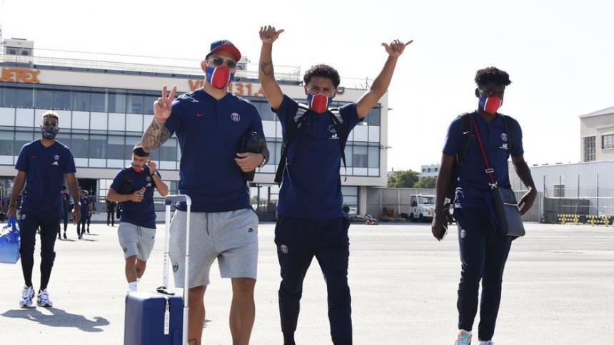 Llegada del PSG a territorio luso. Se medirán al Atalanta en los cuartos de final de la 'Champions'.