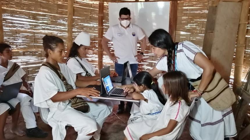 Unimagdalena entregó un Campus digital en asentamiento indígena
