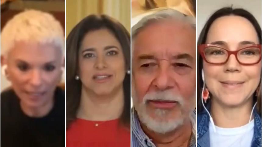 Mónica Schraer, María Juliana Ruiz, Gullermo Carvajal y Andrea Arnau.