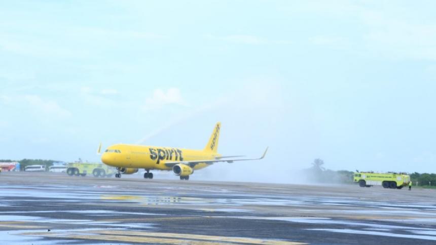 El vuelo 859 aterrizó este sábado en Cartagena procedente de EEUU.