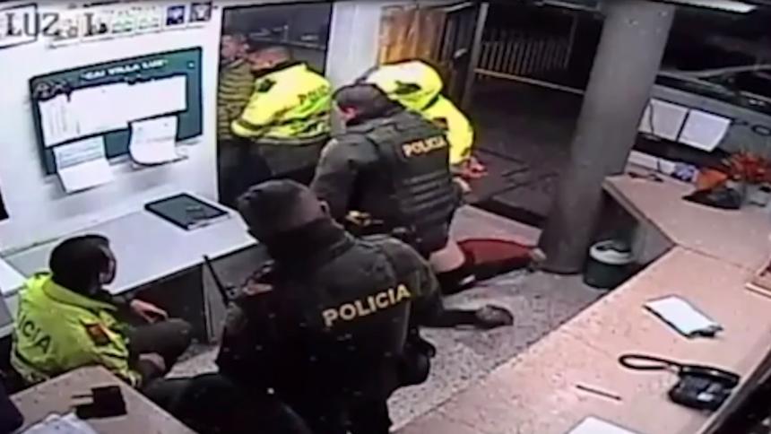 Imagen del video de Ordóñez llegando al CAI.