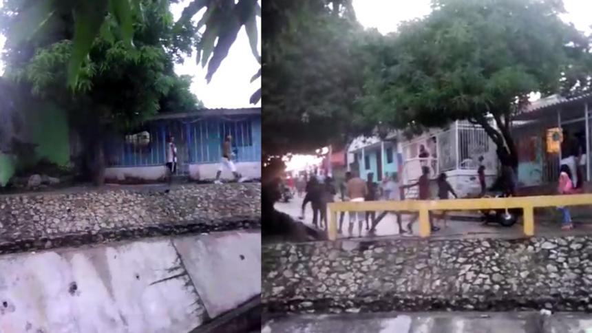 En video | En La Sierrita, se enfrentaron 'los Pepes' y 'los Patacones'