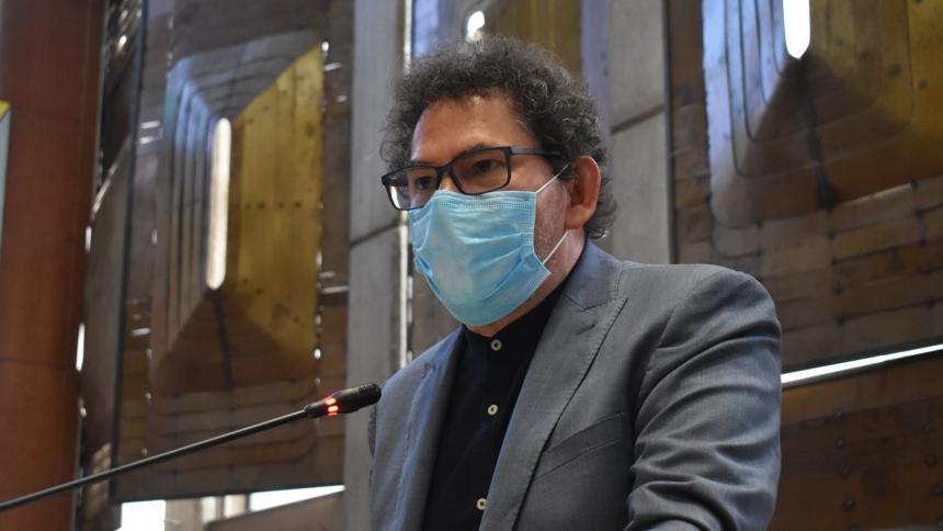Pastor Alape, delegado del partido Farc al Consejo Nacional de Reincorporación.