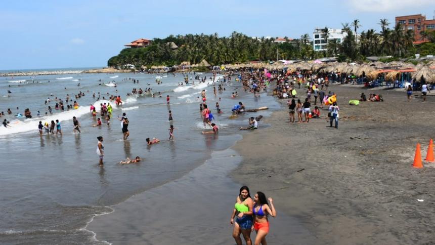 Aspecto de las playas en el municipio de Puerto Colombia.