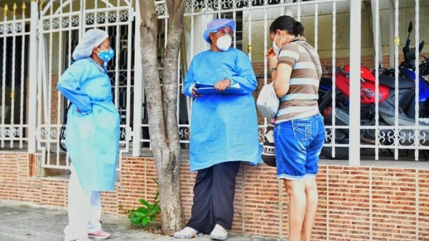 En Cartagena sigue la búsqueda activa de personas mayores de 60 años y demás población en riesgo.