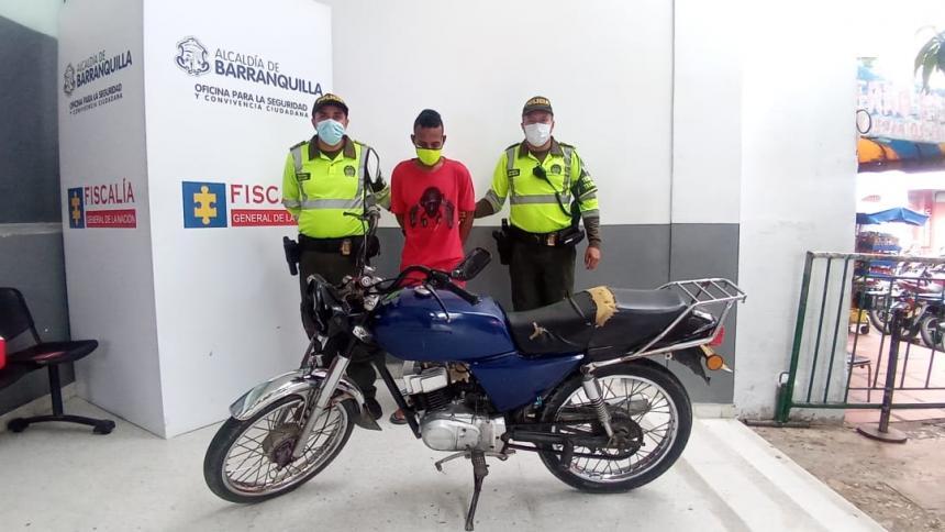 Policía captura a un presunto ladrón