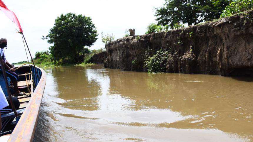 Cauce del río a la altura de Suan se encuentra a 35 metros del casco urbano.