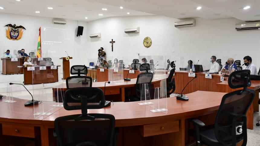 Desarrollo de la Sesión de Comisión de Presupuesto.