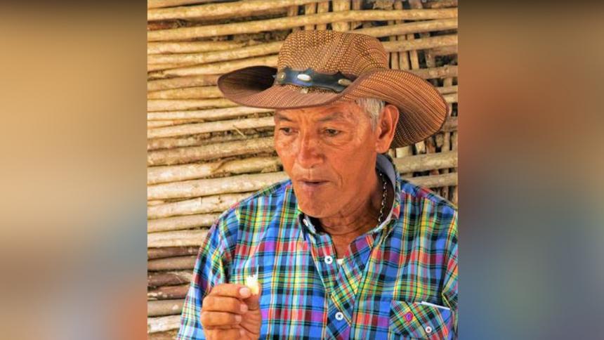 Hernando Benítez, presidente de la ANUC de San Benito, víctima de un nuevo atentado.