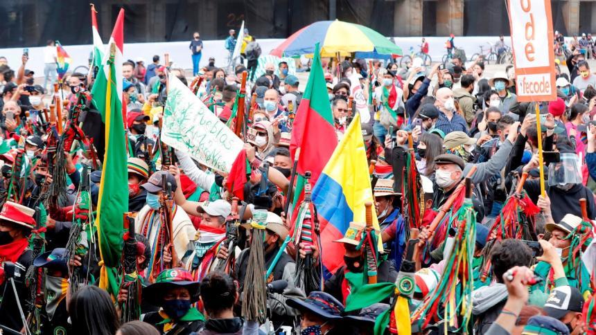 La minga indígena se tomó esta semana Bogotá con marchas pacíficas y ejemplares la capital del país.
