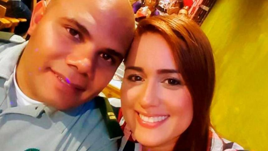 El expolicía Juan Carlos Agámez y su pareja Ginna Margarita Ricardo Cantillo, condenados.