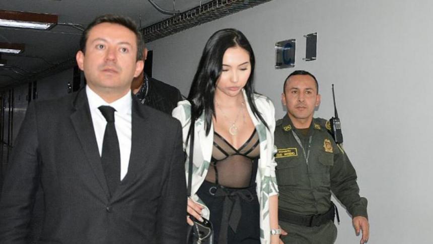 Aida Merlano Manzaneda asiste a una audiencia.