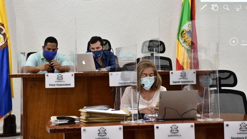 Aspecto de una sesión en el Concejo de Barranquilla.