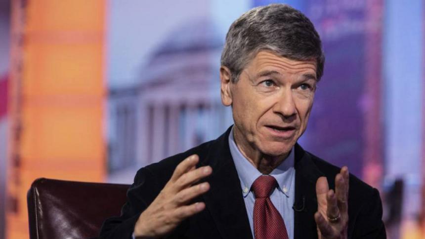El economista internacional Jeffrey Sachs durante un evento.