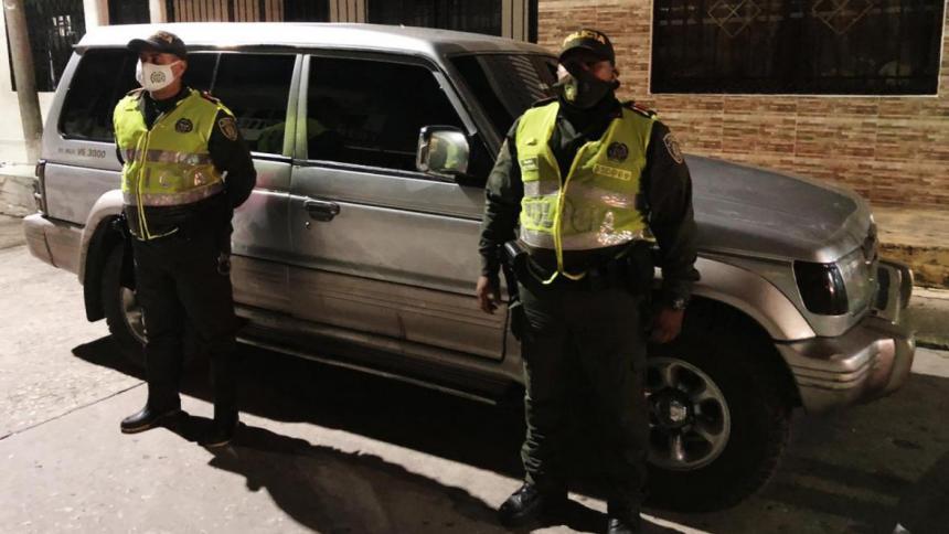 Uno de los vehículos que en agosto pasado había sido reportado como robado en Malambo. A los pocos días la Policía lo recuperó.