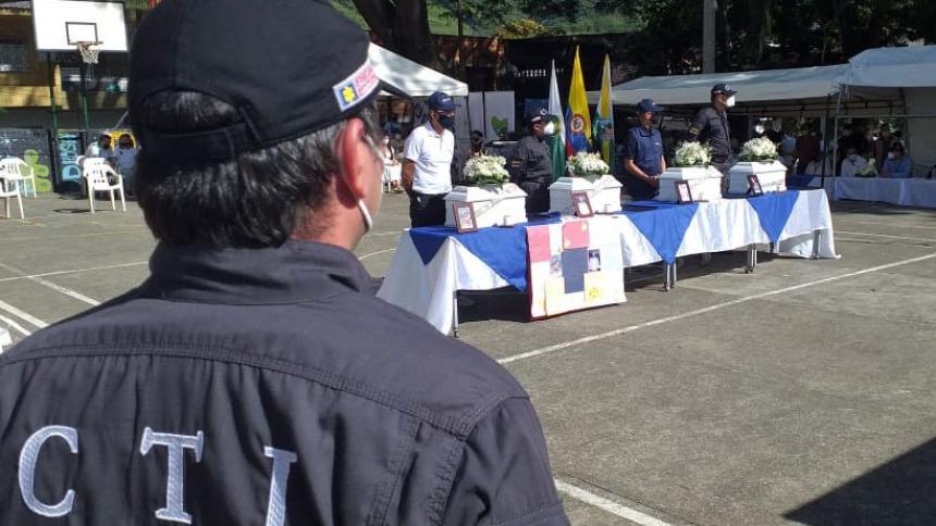 La JEP entregó cuerpos de cuatro víctimas del conflicto armado