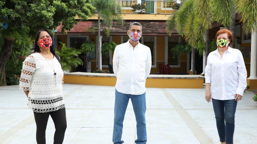 Magaly Salas, Hernán Pernett y Martha Moreu, los tres hacedores elegidos recientemente para integrar la Junta de Carnaval de Barranquilla S.A.S.