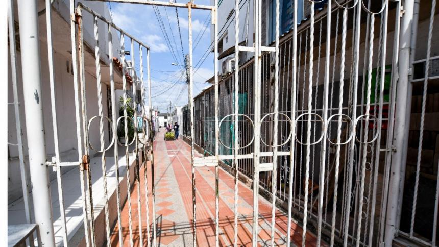 Reja ubicada en el barrio Villa Estadio de Soledad.