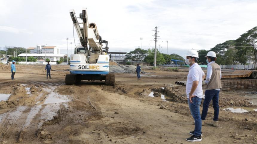 Trabajos en el Estadio de Atletismo de Montería avanzan en un 30 por ciento
