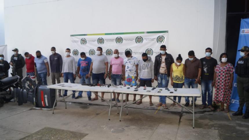Capturados correspondiente al grupo de Los Pachencas.