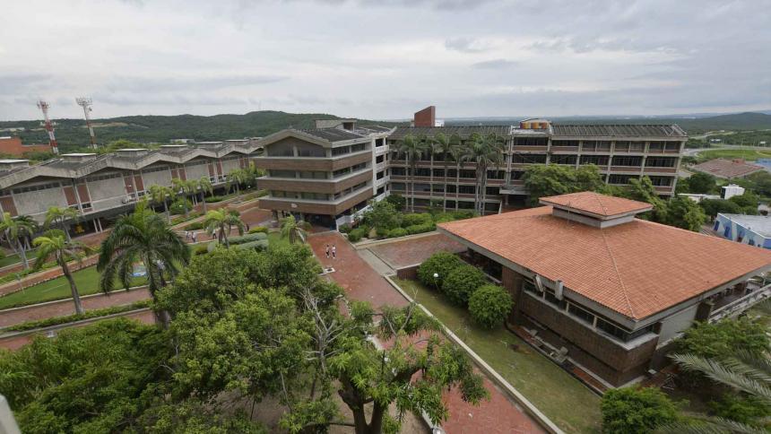 Panorámica  de la Universidad del Atlántico, en Puerto Colombia.