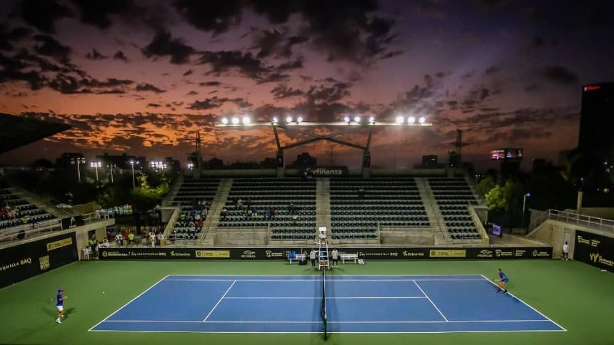 La cancha principal del Parque de Raquetas de Barranquilla.