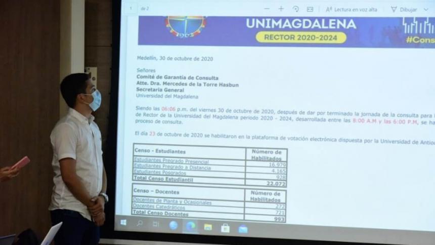 Estamentos de Unimag defienden el proceso que eligió a Pablo Vera rector