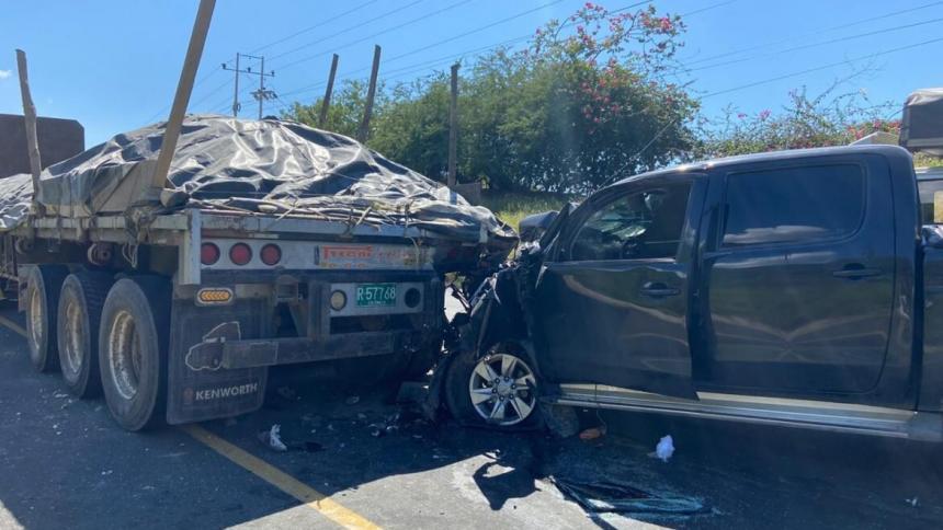 Un herido dejó accidente en la doble calzada Ciénaga-Santa Marta